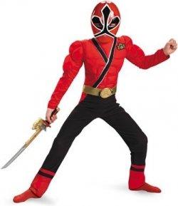 Red Ranger Samurai Classic Muscle Costume
